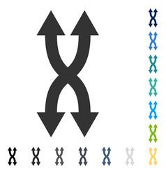 Shuffle arrows vertical icon vector
