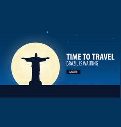 time to travel travel to brazil brazil is vector image
