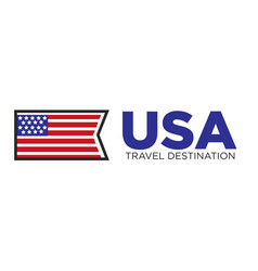 usa country travel destination vector image vector image