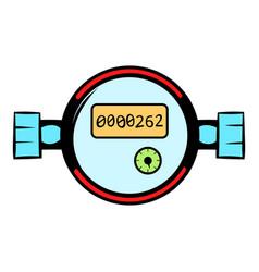 water meters icon cartoon vector image