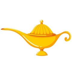 Golden lantern in old-fashioned design vector