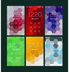Abstract geometric ui screens mockup kit vector