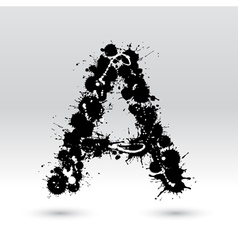 Letter a formed by inkblots vector