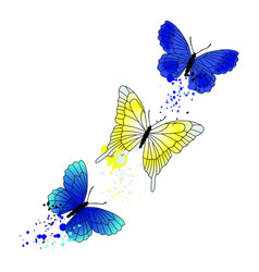 Background with flying butterflies vector