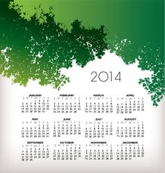2014 TreeScape Calendar vector image