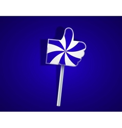 lollipop like on blue background Eps10 vector image