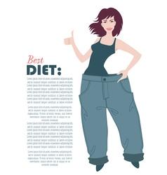 best diet vector image