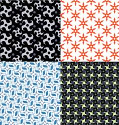 shuriken patterns vector image