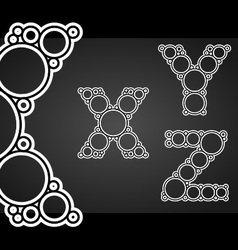 Font design made of circles in the letters vector