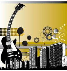 City guitar vector