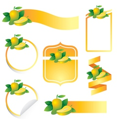 Mango label set vector