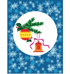 Christmas bell and bauble vector image