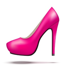 Purple bright modern high heels pump woman shoes vector