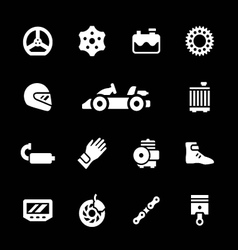 Set icons of karting vector