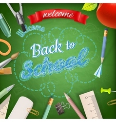 Welcome back to school eps 10 vector