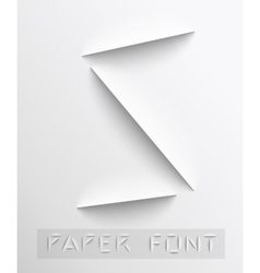 Paper cut letter typographic vector