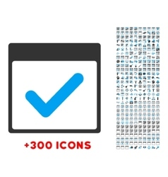 Valid day icon vector