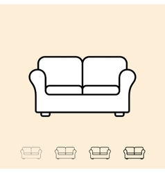 Icon of sofa vector