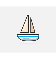 Boat can be used as logo or icon vector