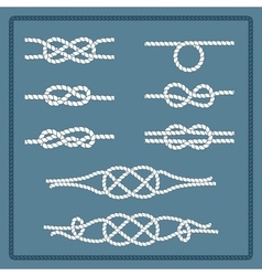 Marine rope knot vector image
