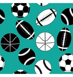 Balls black and white vector