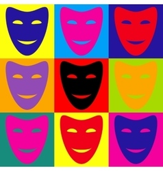 Comedy theatrical masks vector