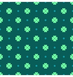 Flowers geometric seamless pattern 6906 vector image