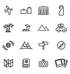 Thin line icons - travel vector