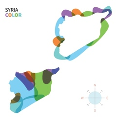 Abstract color map of syria vector