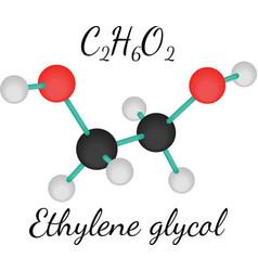 C2H6O2 ethylene glycol molecule vector image vector image