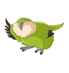 Cartoon greeting kakapo vector