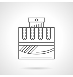 Cologne water flat line icon vector