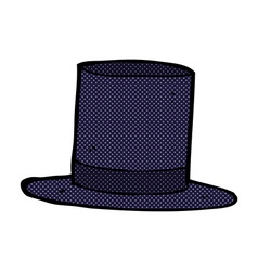 Comic cartoon top hat vector
