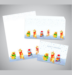 corporate identity or postal set - christmas vector image vector image