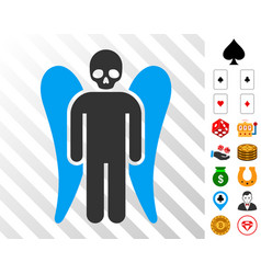 Death angel icon with bonus vector