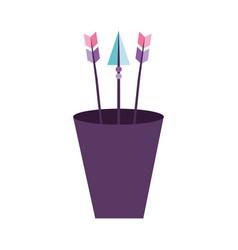 decorative arrows in cup boho style vector image