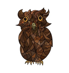 Decorative stylized owl vector