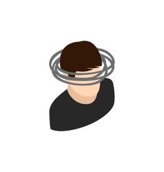 Dizzy head icon isometric 3d style vector