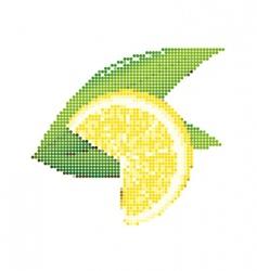 dot style lemon vector image