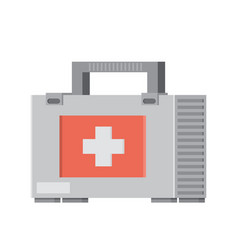 First aid kit flat vector