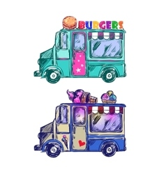 Food truck sketch vector