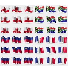 Gibraltar south africa liechtenstein france set of vector