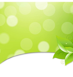 Green Ecology Background With Leaves vector image