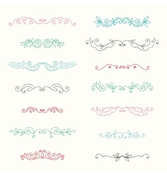 Hand drawn page decorations collection vector
