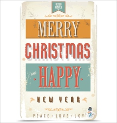 Happy New Year and Merry Christmas background vector image
