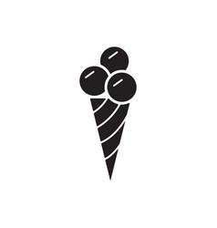 Ice cream icon mono symbol vector