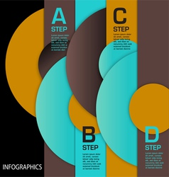 infographic Circles ABCD vector image vector image