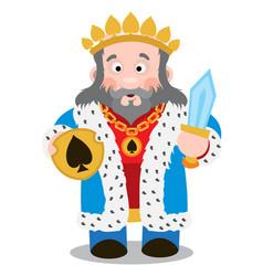King of spades cartoon characters vector