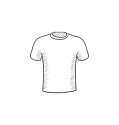 Male t-shirt sketch icon vector image vector image
