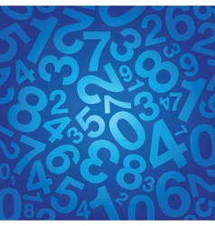 number background vector image